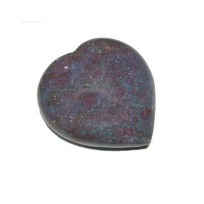 Corundum Rock Crystal Puff Heart
