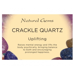 Natural Gems - Crackled Quartz Crystal Information Cards - Pack of 50