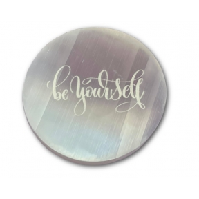 15cm Selenite Engraved Be Yourself Charging Plate