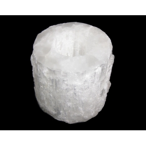 Selenite Mountain Flat Polished Top T-Light Holder