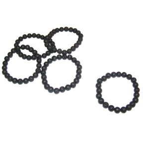 Lava Stone Bead Bracelet - Pack of 5