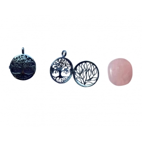 Rose Quartz Tree Of Life Locket