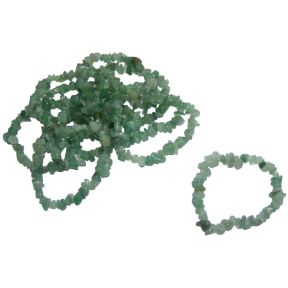 Green Aventurine Tumbled Chip Bracelets Pack of 10