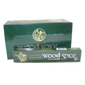 Nandita Wood Spice Natural Incense Sticks 15g - Premium Quality