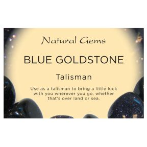 Natural Gems - Blue Goldstone Crystal Information Cards - Pack of 50