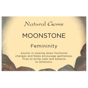 Natural Gems - Moonstone Crystal Information Cards - Pack of 50