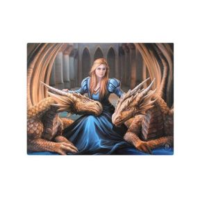 Anne Stokes Fierce Canvas Wall Plaque