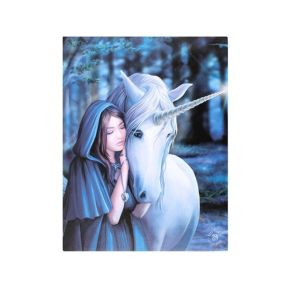 Anne Stokes Solace Canvas Wall Plaque