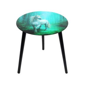 Anne Stokes Forest unicorn Glass Table