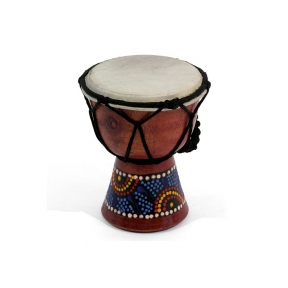Tiny Painted Djembe