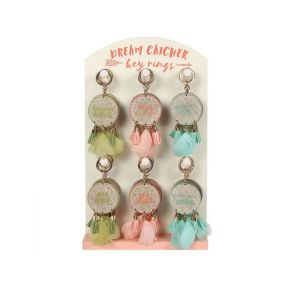 Boho Dream Catcher`s Key Chain With Display Stand