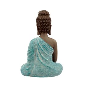 Thai Buddha, Brown, White and Turquoise - Peace