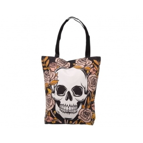 Skulls and Roses Cotton Bag