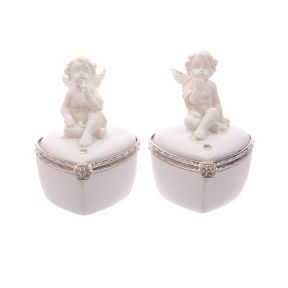 White Cherub Pill/Small Trinket Box - Box of 6