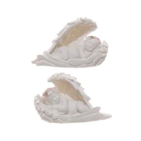 Cherubs Sleeping in Wings with Pink Roses - Pk6