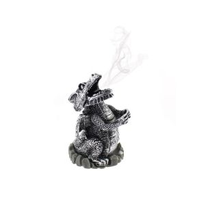 Silver Smoking Dragon Cone Holder