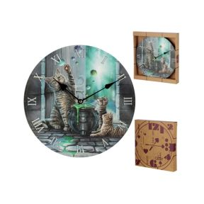 Lisa Parker Hubble Bubble Cat and Kitten Clock