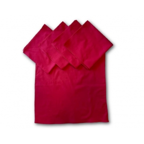 Cotton Red Tarot Cloth - Pack of 5