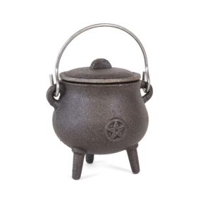 Cast Iron Cauldron with Pentagram