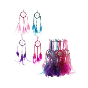 Bright Mini Feather Dreamcatchers
