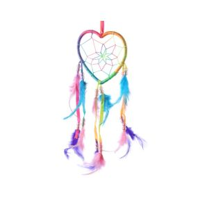 Rainbow Heart Dreamcatcher