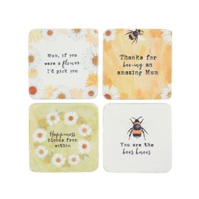 Daisy Coasters Pack of 24