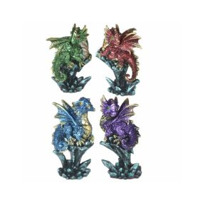 Dragon with Mini Crystal - Pack of 4