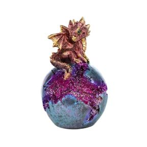 Baby Dragon LED Geode Dragon Egg