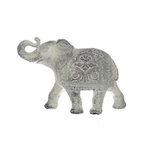 Brushed White Medium Thai Elephant Figurine