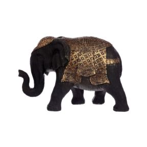Black and Gold Medium Elephant