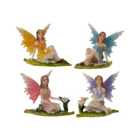 Flora and Fauna Meadow Flower Fairy Figurine Pk12