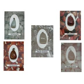 Tumblestone Card Pendant- Pack of 5