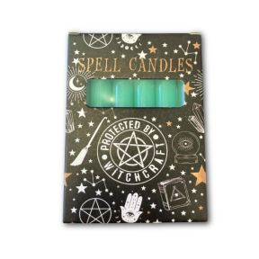 Green Spell Candles - Pack of 6
