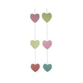 String of 3 Hearts