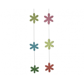 String of 3 Flowers - 110cm