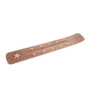 Sheesham Wood Ashcatcher with Brass Star Inlay-  Pack 24