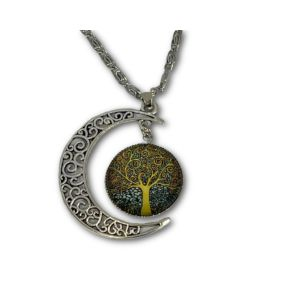 Tree of life moon pendant