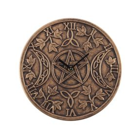 Lisa Parker Terracotta Triple Moon Clock