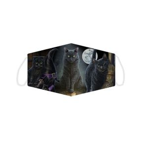 Lisa Parker Halloween Black Cats Face Covering - Large