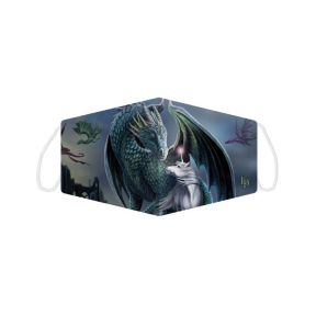 Lisa Parker Protector of Magic Dragon and Unicorn Face Covering - Large