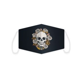 Skulls and Roses Reusable Face Covering - Large