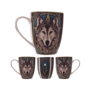 Wolf Head Ceramic Mug - Lisa Parker Collection