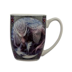 Lisa Parker Alliance Wolf and Dragon Porcelain Mug