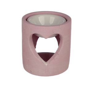 Pink Eden Heart Concrete Oil Burner