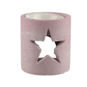 Pink Eden Star Concrete Oil Burner