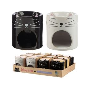 Feline Fine Ceramic Cat Head Oil Burner - Pack of 12