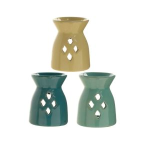 Matte Finished Oil Burner with Diamond Cut-Outs
