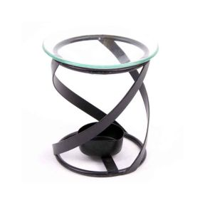Black Metal Oil Burner - 11cm
