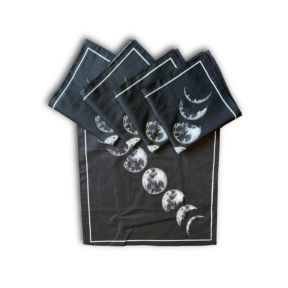 Printed Moon Phases Tarot Cloth - Pack of 5