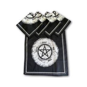 Printed Pentagram Tarot Cloth - Pack of 5